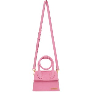 Jacquemus Pink Suede Le Chiquito Noeud Bag