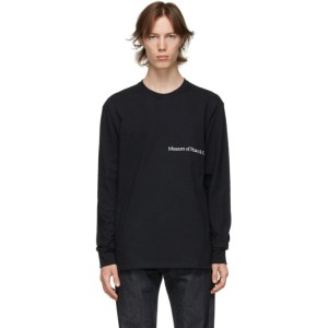Museum of Peace and Quiet Black MOPQ Long Sleeve T-Shirt