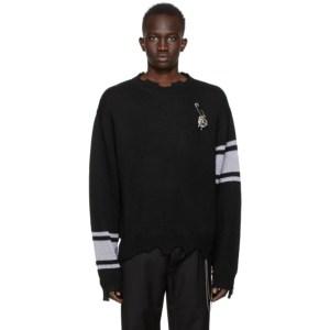 mastermind JAPAN Black C2H4 Edition Reflective Knit Sweater