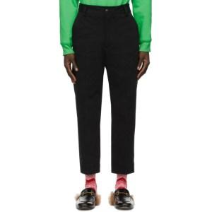 SSENSE WORKS SSENSE Exclusive Jeremy O. Harris Black Twill Cropped Trousers