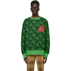 SSENSE WORKS SSENSE Exclusive Jeremy O. Harris Black and Green Rose Sweatshirt