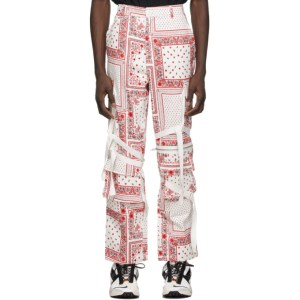 ROGIC White and Red Paisley Cargo Pants
