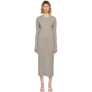 Lisa Yang Taupe Cashmere The Anais Dress