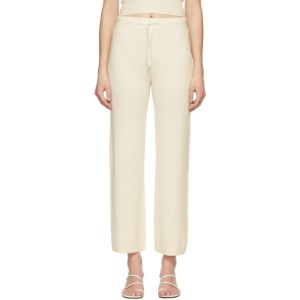 Lisa Yang Off-White Cashmere The Heather Lounge Pants