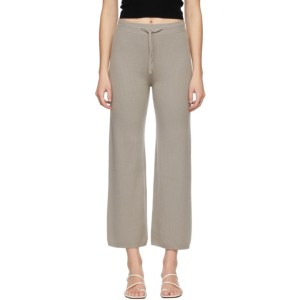 Lisa Yang Taupe Cashmere The Heather Lounge Pants