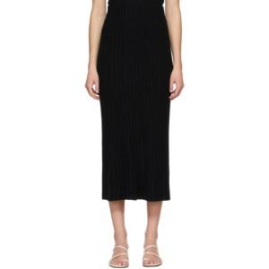 Lisa Yang Black Cashmere The Celine Skirt