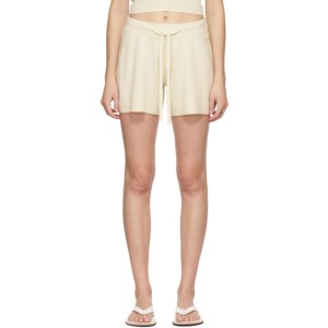 Lisa Yang Off-White Cashmere The Gio Shorts