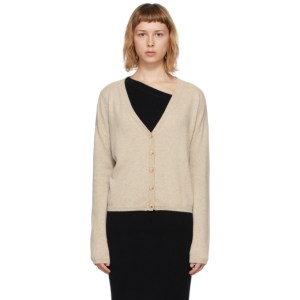 Lisa Yang Beige Cashmere The Abby Cardigan