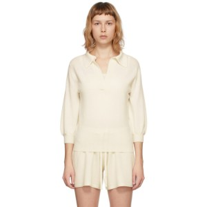 Lisa Yang Off-White Cashmere The Kimberly V-Neck Pullover