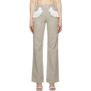 Kijun Grey Fringe Jeans