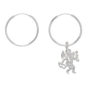 Georgia Kemball Silver Cupid Hoop Earrings
