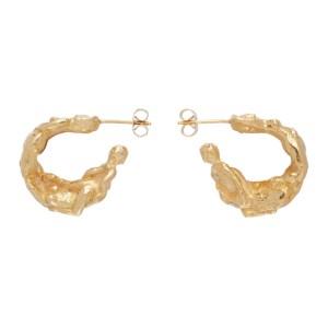 Georgia Kemball Gold Small Orgy Hoop Earrings