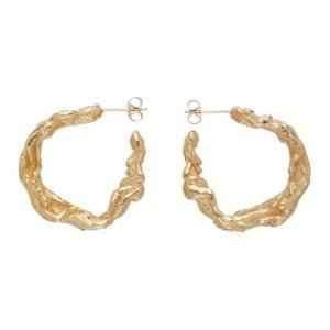 Georgia Kemball Gold Large Orgy Hoop Earrings