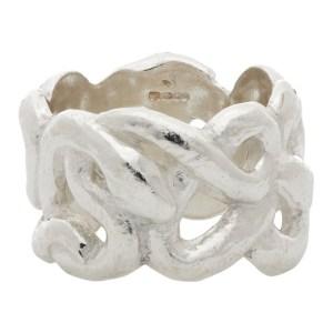 Georgia Kemball Silver Snake Ring