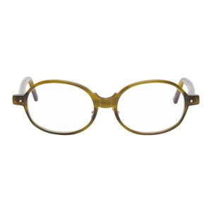Grey Ant Khaki Chronical Oval Glasses