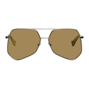 Grey Ant Gold Megalast Hexagonal Aviator Sunglasses