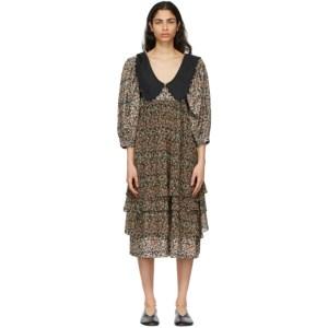 Kika Vargas Black Maria Mid-Length Dress