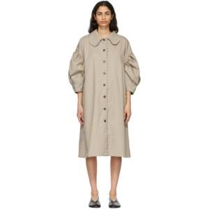 Kika Vargas Khaki Charlotte Coat