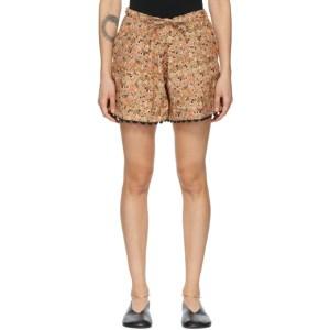 Kika Vargas Tan Elsie Shorts