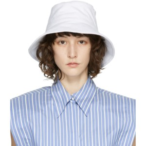 Isabel Marant White Loiena Bucket Hat