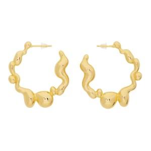 Hannah Jewett Gold Puddle Play Hoop Earrings