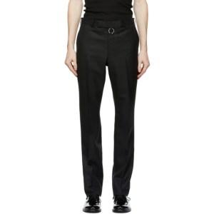 Johnlawrencesullivan Black Wool Body Piercing Jewelry Trousers