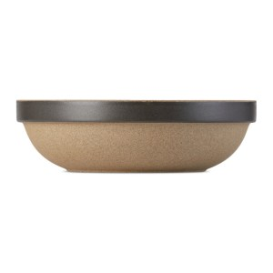 Hasami Porcelain Black and Beige HPB032 Round Bowl