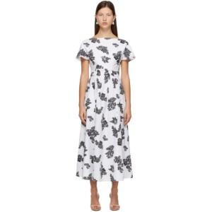Erdem White Fil Coupe Fraser Dress