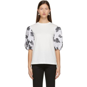Erdem Off-White Fil Coupe Theodora T-Shirt