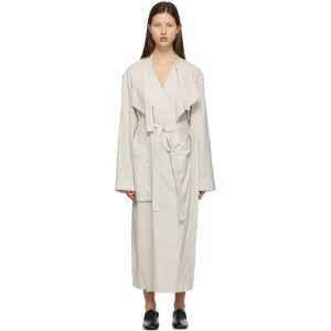 Lemaire White and Grey Trench Dress