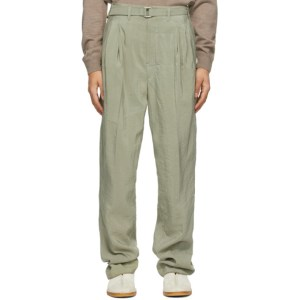 Lemaire Green Silk Loose Trousers