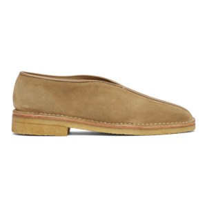 Lemaire SSENSE Exclusive Tan Square Toe Slippers
