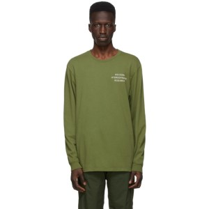 Western Hydrodynamic Research SSENSE Exclusive Green Uniform Long Sleeve T-Shirt