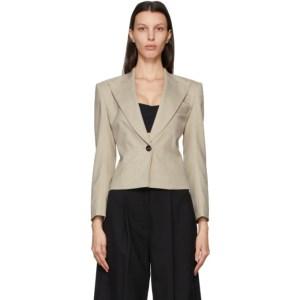 LOW CLASSIC Beige Wool Short Blazer