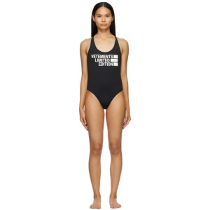 VETEMENTS Black Limited Edition One-Piece Swimsuit
