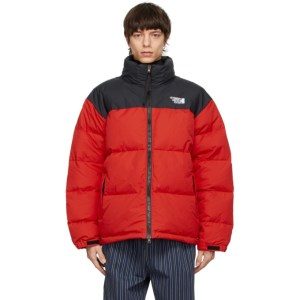 VETEMENTS Black and Red Limited Edition Puffer Jacket
