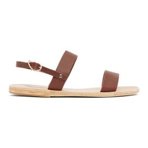 Ancient Greek Sandals Brown Clio Sandals