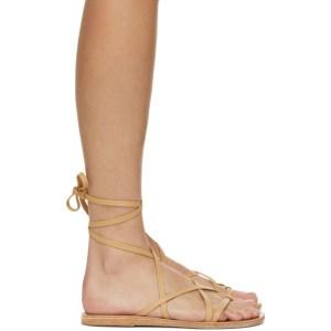 Ancient Greek Sandals Tan Morfi Sandals
