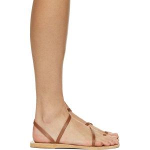 Ancient Greek Sandals SSENSE Exclusive Brown Apli Eleftheria Sandals