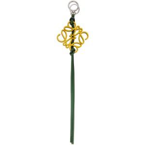 Loewe Yellow and Green Anagram Charm Keychain