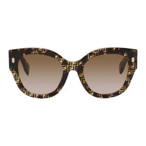 Fendi Tortoiseshell F Is Fendi Round Sunglasses
