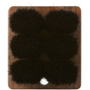 Shaquda Walnut and Boar Bristle Short Body Brush
