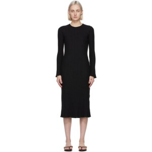Simon Miller Black Wells Mid-Length Dress