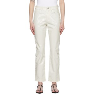 Simon Miller White Patent Vegan Leather Trousers