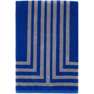 Lateral Objects Blue and Grey Arc Towel