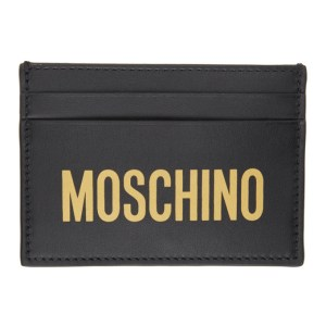 Moschino Black Logo Card Holder
