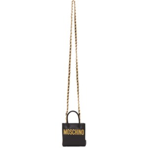 Moschino Black Micro Chain Shopper Bag