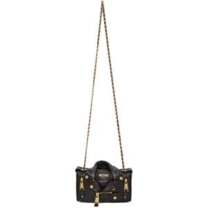 Moschino Black Small Biker Jacket Shoulder Bag