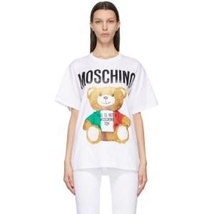 Moschino White Italian Teddy Bear T-Shirt
