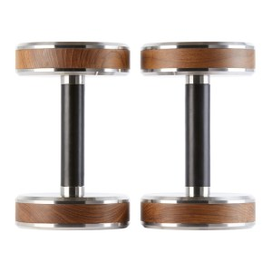 FYSIK Brown and Black Pen Dumbbell Set, 9 kg